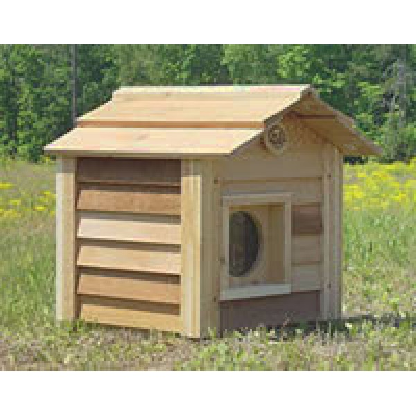 Cedar Cat House With Porch