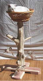 how to make a cat scratching post with natural wood